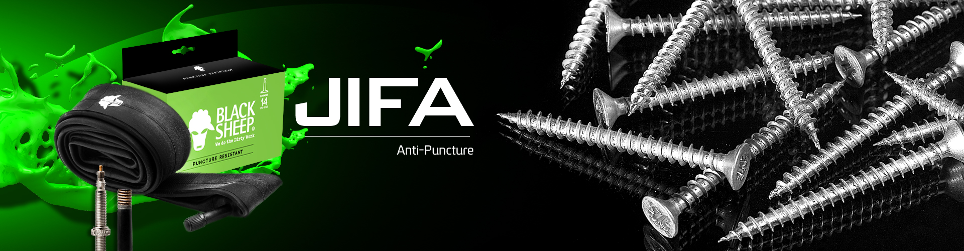 Jifa Tube | Anti-Puncture bicycle inner tube High Quality Ready to use Anti-Puncture bicycle inner tube C/W Instant puncture sealant fluid Effective puncture sealing up to 3 mm diameter Sizes 26/ 27.5/29 X 1.95-2.10 Presta or Schrader